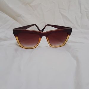 COLE HAAN Sunglasses, Burgundy/amber tinted.